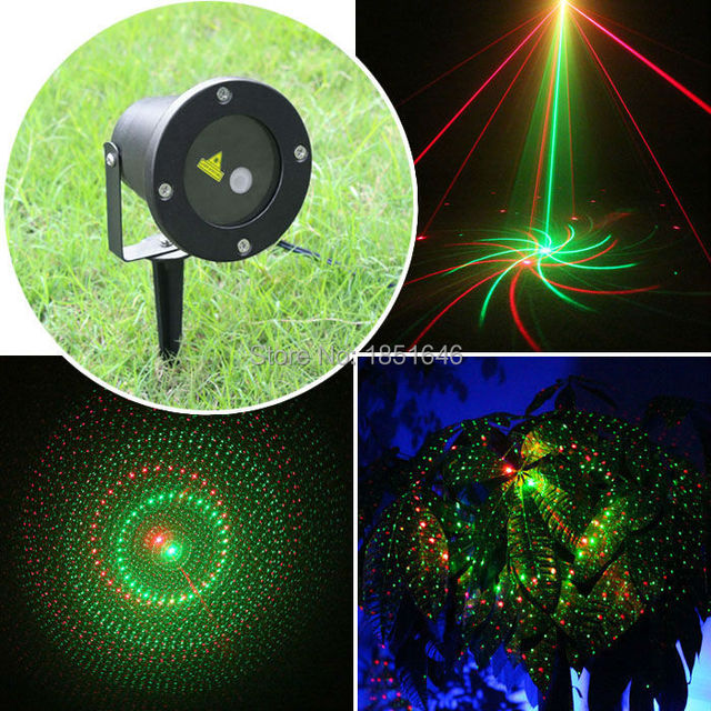 christmas outdoor indoor 8 patterns gobos laser light rg lighting projector show xmas outside landscape garden - Laser Projector Christmas Lights