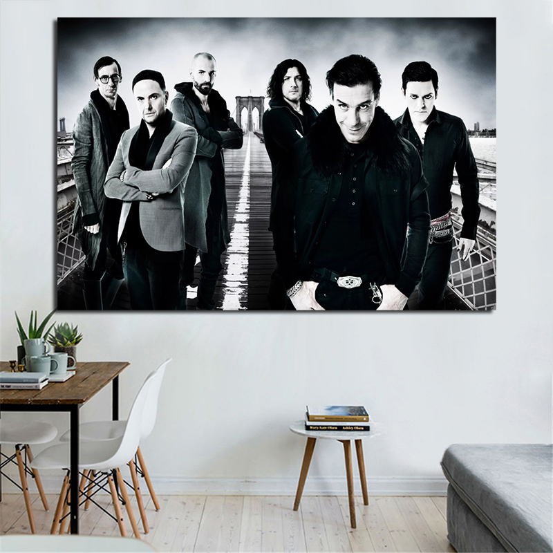 Rammsteines Rock Band Wallpaper Canvas Posters Prints Wall Art Painting Oil Decorative Picture Modern Home Decoration Framework(China)
