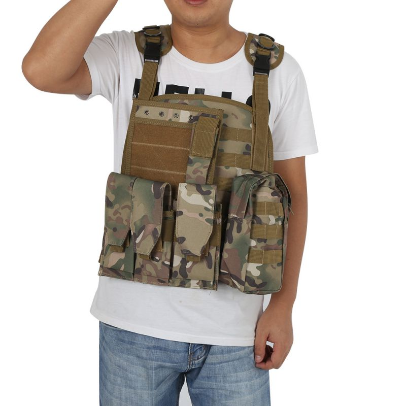 Camouflage Hunting Military Tactical Vest Wargame Body Molle Armor Hunting Vest CS Outdoor Equipment