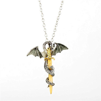 Luminous Jewelry Dragon Sword Pendant Necklace Game Of Throne Neck lace Glow In The Dark