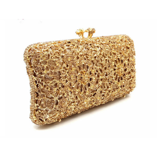 Women solid Gold Crystal Clutch Evening Bags Hard box Metal Bridal day Clutches Handbag Wedding Purse clutch crossbody bags women red gold blue diamond evening bags gold clutch hard box clutches bags day clutch party purse wedding bridal bag women bags