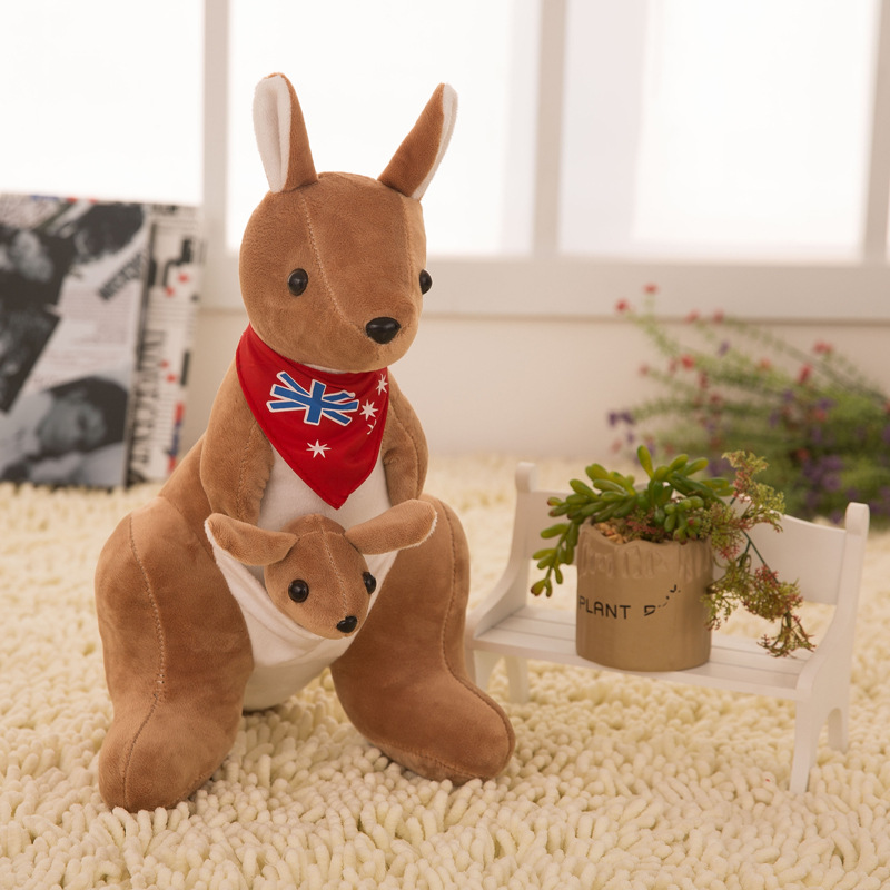 Retail 20cm Australia Lovely mother and son Mother and child kangaroo Plush doll plush toy doll Children birthday gift super cute plush toy dog doll as a christmas gift for children s home decoration 20