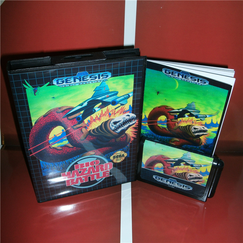 Bio hazard Battle US Cover with box and manual For Sega Megadrive Genesis Video Game Console 16 bit MD card