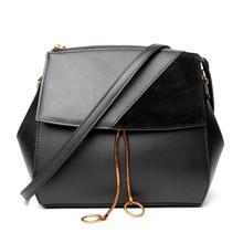 Fashion bat-shaped mosaic scrub Genuine Leather women messenger bags New Calfskin Crossbody Bags Vintage Women shoulder bag