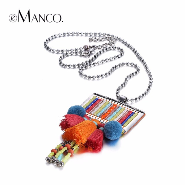Colorful Kawaii Figure Bohemia Tassel Necklace