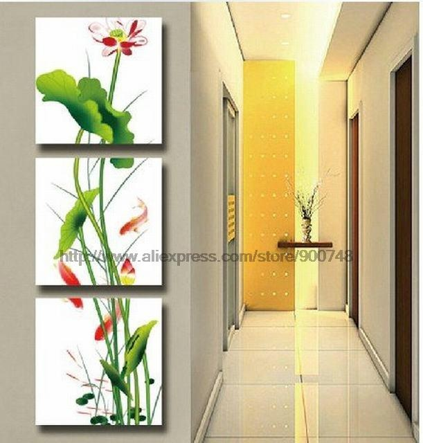 Goldfish And Lotus Modern Wall Art Top Home Decoration Oil Paintings ...