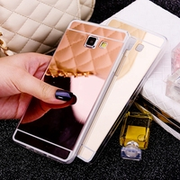 Gold Mirror Soft Shell Cover For Samsung Galaxy Note 3 4 5 A3 A5 J3 J5 J7 2016 2017 S4 S5 S6 S7 Edge S8 Plus J2 Grand Prime Case