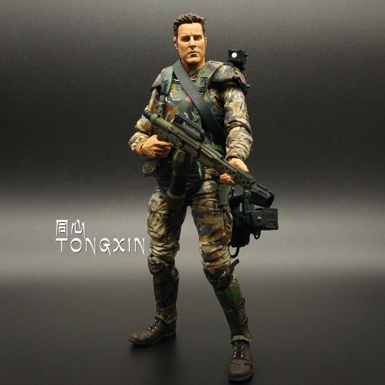 US $26 5 |7 Inch Alien Vs  Predator AVP Mercenaries Mezco Model Toys  Soldiers Action Figure-in Action & Toy Figures from Toys & Hobbies on