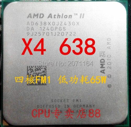 Бесплатная доставка AMD Athlon II X4 638 quad-core FM1 2.7 Г 65 Вт APU рабочего ПРОЦЕССОРА