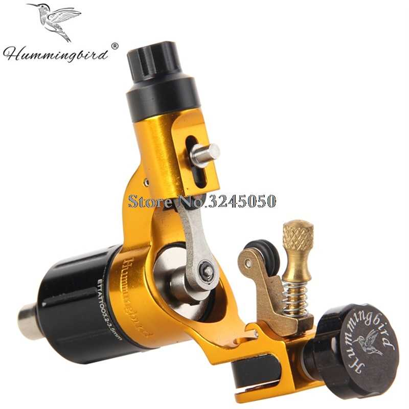Originele Hummingbird V2 Zwitserse Motor Rotary Tattoo Machine Goud Gratis RCA Cord Voor Tattoo Supply