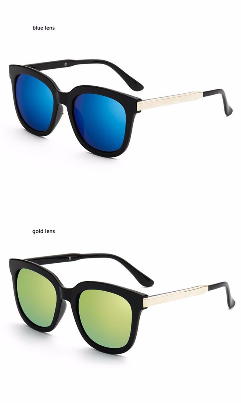 High Quality Couple Square Sunglasses Women Brand Designer Vintage Retro sun glasses for women Men Sunglass Mirror Lunette Femme (11)