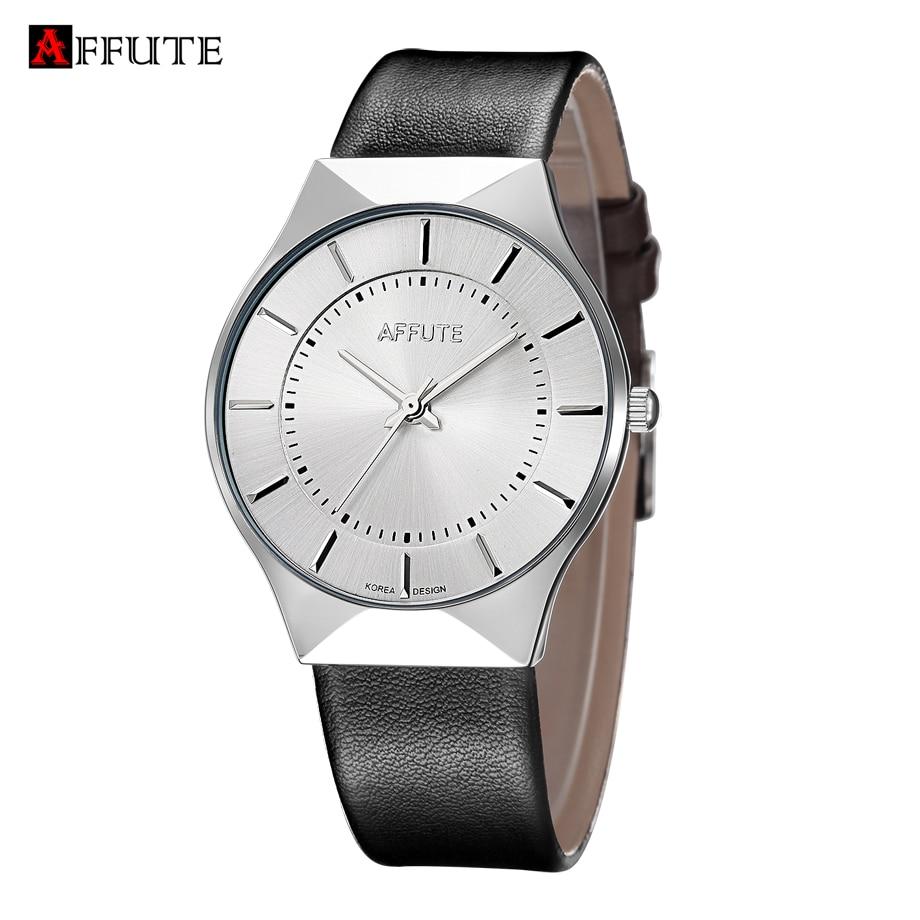 AFFUTE Brand New Fashion Luxury Elegant Watch Men Simple Ultra Thin dial Casual Male Quartz Clock