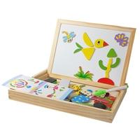 Bambini Giocattoli Educativi di Legno Puzzle Giocattoli Per I Bambini Del Bambino Puzzle Magnetico Tavolo Da Disegno Cavalletto Bordo Unisex Delle Ragazze del Ragazzo Giocattolo