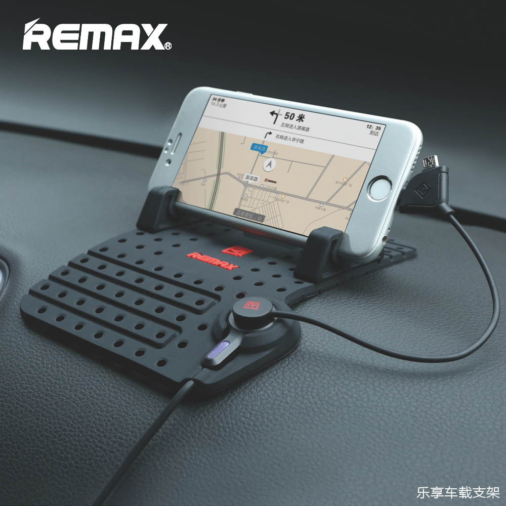 Remax Universal Mobile Phone Car Phone Holder With Charger USB Cable For iPhone Micro USB Adjustable Bracket Magnet Connector
