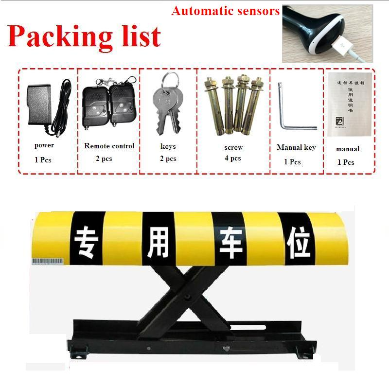 Remote Control Car Parking Barrier, parking space barrier height 305mm parking post barrier bollard half ring shape of the block machine parking barrier lock