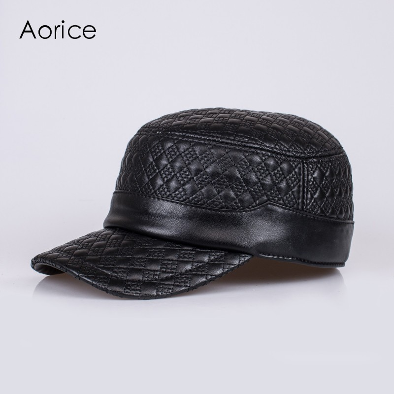 eb85e1e4851e26 HL068 genuine leather baseball cap/hat brand new men's real leather ...