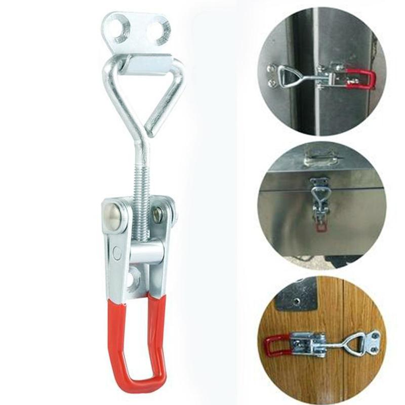 1Pc Toggle Clamp Horizontal Clamp Cabinet Boxes Lever Handle Toggle Latch Catch Lock Clamp Hasp Adjustable