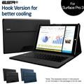 Case para surface pro 3, esr tablet case con múltiples ángulos de visión de negocios clásico folio stand case para surface pro 3