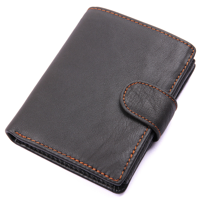 Top Quality New Arrival Genuine Leather Wallet Hasp Men Wallets Luxury Dollar Price Vintage Male Purse Coin Bag Free Shipping men vintage wallet pu leather dollar
