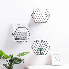 Iron Storage Rack Holders Book Wall Shelf Living Bedroom Hanging Flower Pots RacksDecorationOrganizer