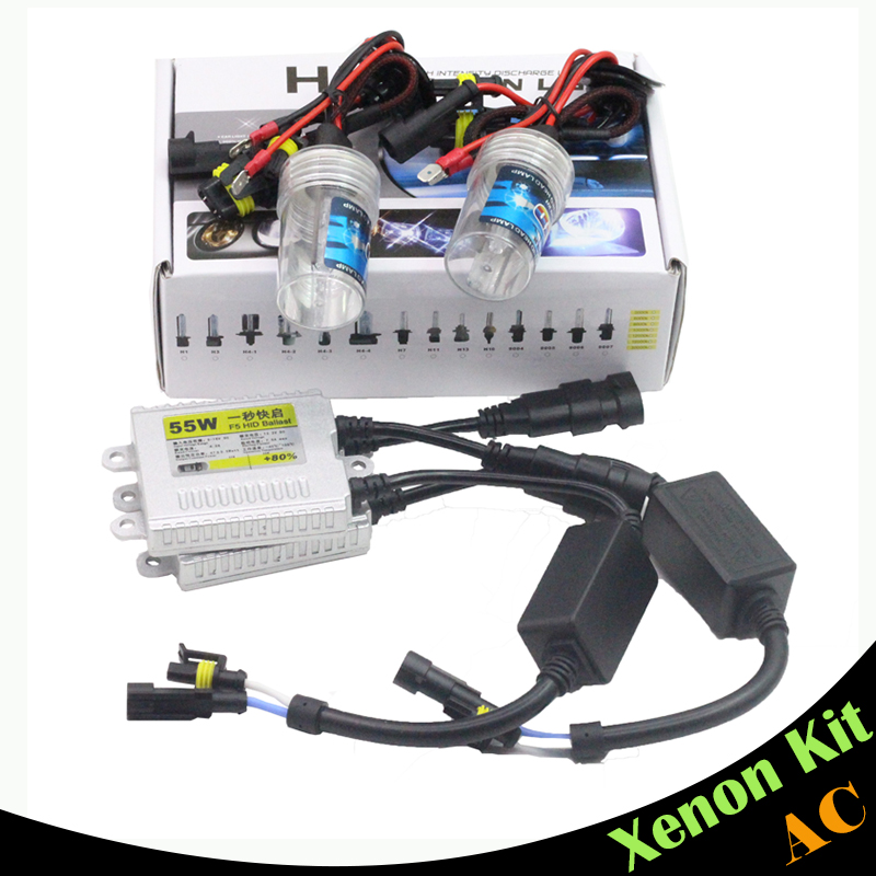 Cawanerl 55W H3 AC HID Xenon Kit Bulb Ballast 3000K-15000K Conversion Car Headlight Fog Lamp DRL Daytime Running Light  55w xenon hid kit aluminum shell ballast bulb 3000k 15000k car conversion headlight head light for is250 2006 2013