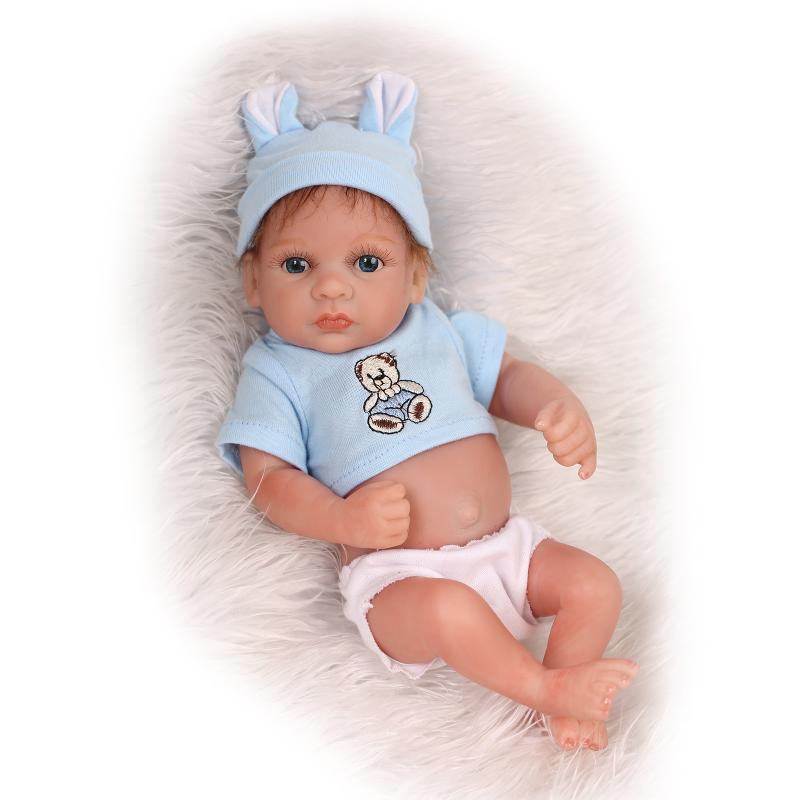 25 cm Silicone souple Reborn bébé poupées jouet réaliste nouveau-né garçon bébés Bebe poupée bain douche jouer maison éducation précoce jouet