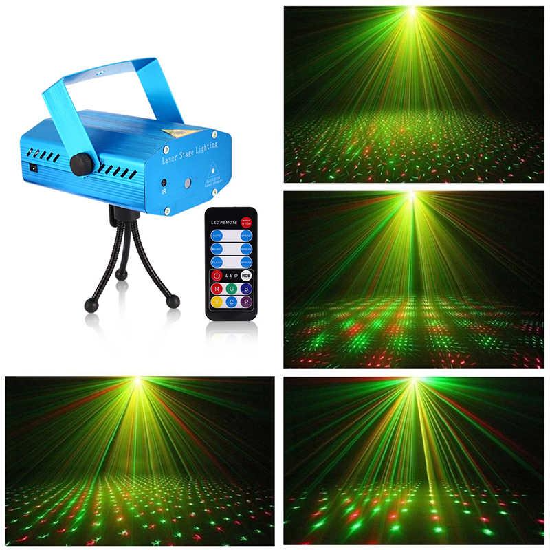 Освещение мини-сцены эффект светодиодный лазерный проектор Красный Зеленый звезда Голосовая активация/Авто/Вспышка FDA сертифицированный для клубной дискотеки