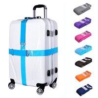 Luggage Strap Cross Belt Adjustable Travel Suitcase Buckle Strap Elastic Baggage Belts Secure Lock Anti theft Bundling Belt