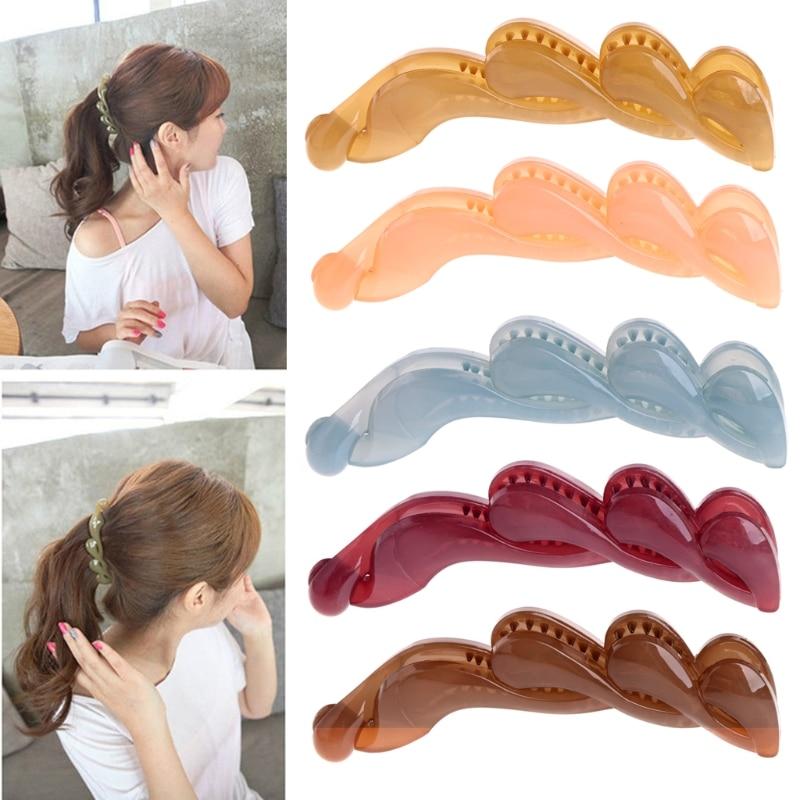 Fashion Girls Clamp Banana Hair Grip Clip Korean Hairpin Ponytail Holder Women   Headwear   Accessories