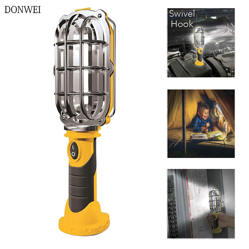 Protable LED Work Flashlights Car Repair Working Lamp AA Battery Powered Torch Built-in Magnet Hook Tent Camping Lantern