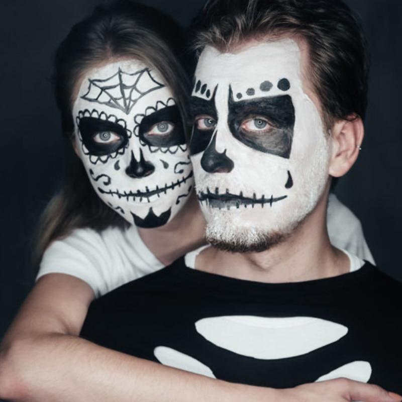 blanco pintura de la cara pintura corporal seguridad dibujo pigmento a base de aceite cara maquiagem