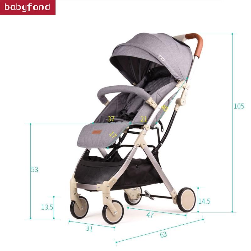 Szuper könnyű márka baba összecsukható babakocsi kis baba autó utazási babakocsik
