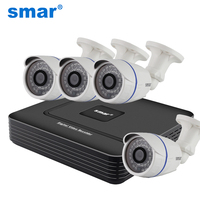 CCTV 4CH FULL 960H Realtime P2P HDMI H 264 DVR Video Surveillance System CMOS 700TVL Waterproof