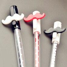 12pcs / set Funny Mustache Gel Pen fo Kids Writing , Thin-tipped Creative as Korean Stationary