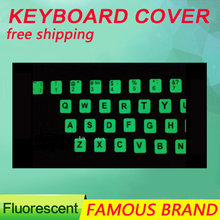 Golooloo для ноутбука английская буква светящиеся флуоресцентные наклейки на клавиатуру наклейка крышка ночник