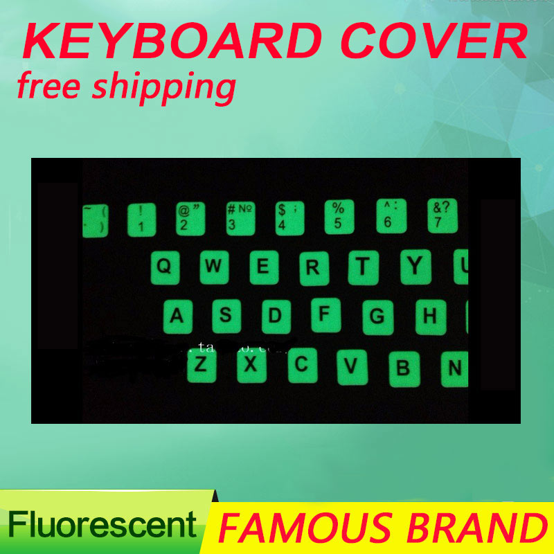 Golooloo For laptop computer notebook English letter Luminous Fluorescent keyboard stickers sticker cover nightlight ru keyboard stickers cover letter russian english spanish non transparent universal replacement keyboard stickers for laptops