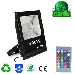 100W naświetlacz Led RGB odbłyśnik projektor Led zewnętrzny zewnętrzny Led Light wodoodporny Ip65 Foco Led zewnętrzny AC85-265V