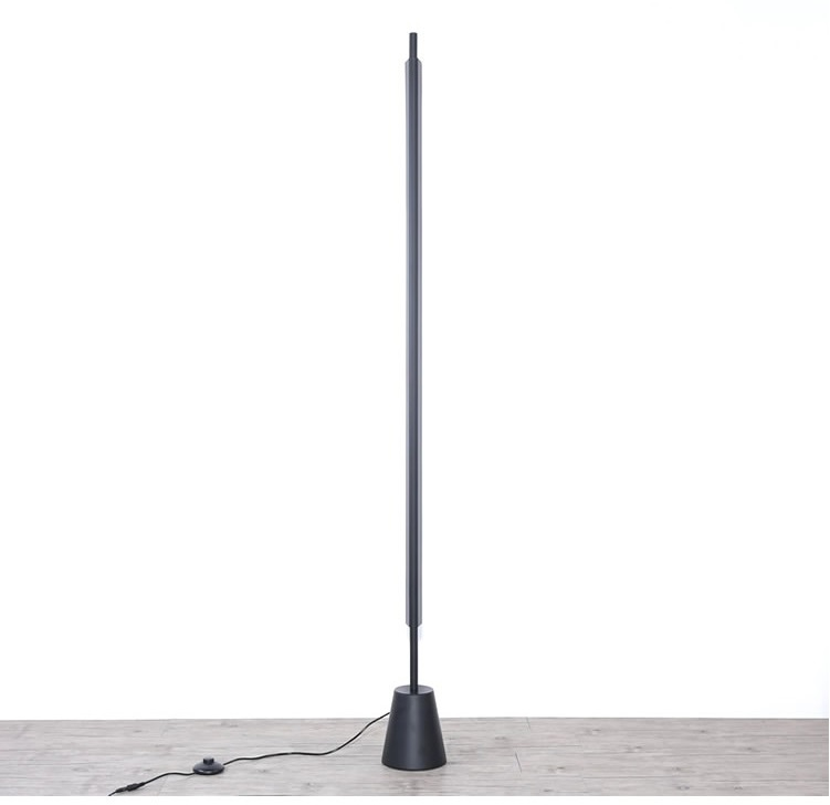 Magic Wand Metal Floor Lamp black