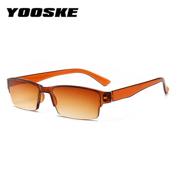 YOOSKE Unisex Ultra Light Reading Glasses 2018 Fashion Half Frame Glasses for Men Women Resin HD Eyewear +1.0 1.5 2.0 2.5 3.0