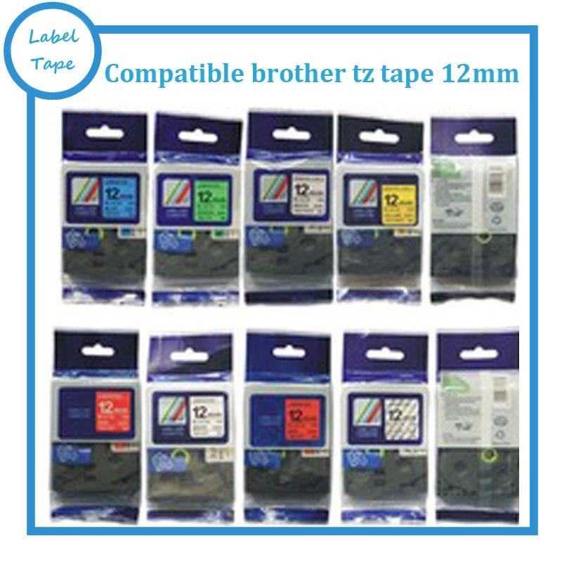 <font><b>19</b></font> <font><b>mix</b></font> <font><b>colors</b></font> Great Quality Compatible For Brother P-Touch Laminated Tze Tz Label <font><b>Tape</b></font> 12mm