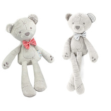 42cm Baby Plush Bear Sleeping Comfort Doll Plush Toys Stuffed Animal Toys Smooth Obedient Bear Sleep Calm Doll For Kids Gift