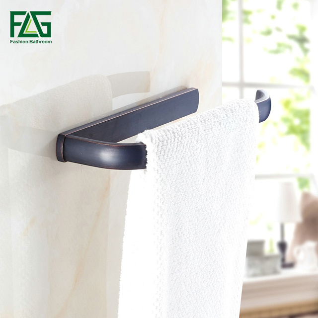 FLG Free Shipping Towel Ring Solid Brass Copper Oil Rubbed Bronze Bathroom Accessories Products Towel Holder Towel Bar 81302