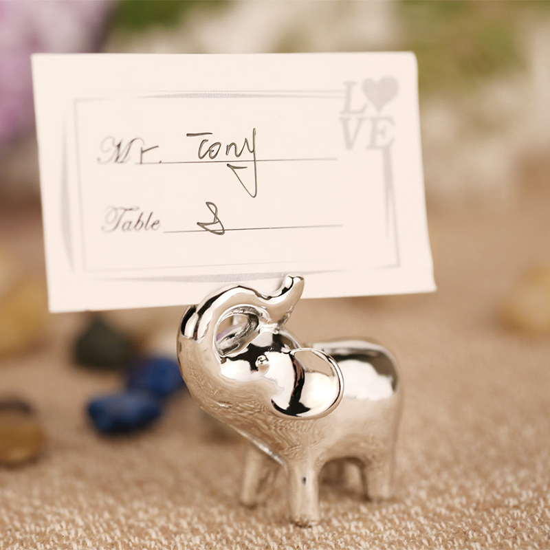 Elephant Place Card Holder Wedding Decoration Centerpiece Table Name Holder Party Supplies Baby Shower Souvenirs Favors Gifts