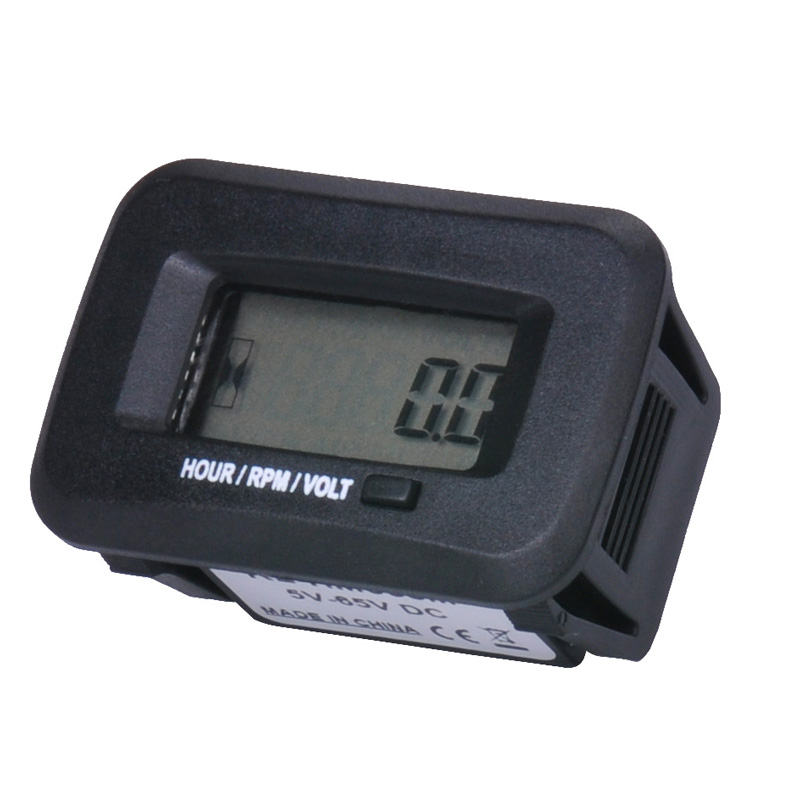 Runleader LCD snap on waterproof digital RPM tachometer hour meter for ATV Chain saw compressor cutter marine tractor excavator запчасти и аксессуары для мотоциклов runleader lcd rl hm016b