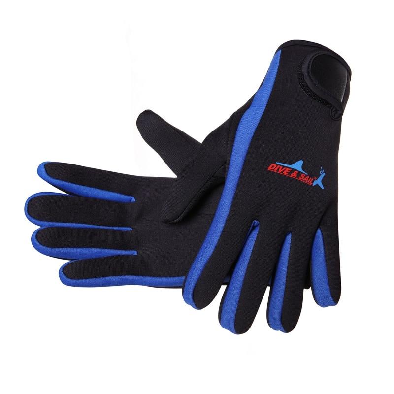 Women's Men's Swimming Diving Gloves Non-slip Warm Swimming Snorkeling Surfing Gloves Neoprene Swimming Diving Gloves 1.5mm