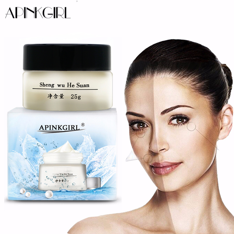 APINKGIRL Whitening Freckle Cream Remove Melasma Anti Dark Spot Remover Acne Pigment Melanin Speckle Blemish Face Care Cream 25g in Facial Self Tanners Bronzers from Beauty Health