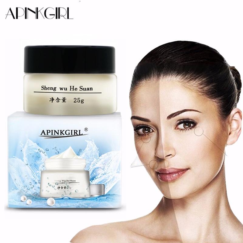 APINKGIRL Whitening Freckle Cream Remove Melasma Anti Dark Spot Remover  Acne Pigment Melanin Speckle Blemish Face Care Cream 25g