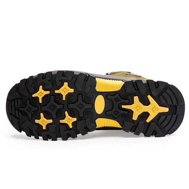 Super Warm Men Winter Boots Suede Leather Men Boots Fur Plush Snow Boots waterproof Winter Shoes For Men Outdoor Boots Shoes 4