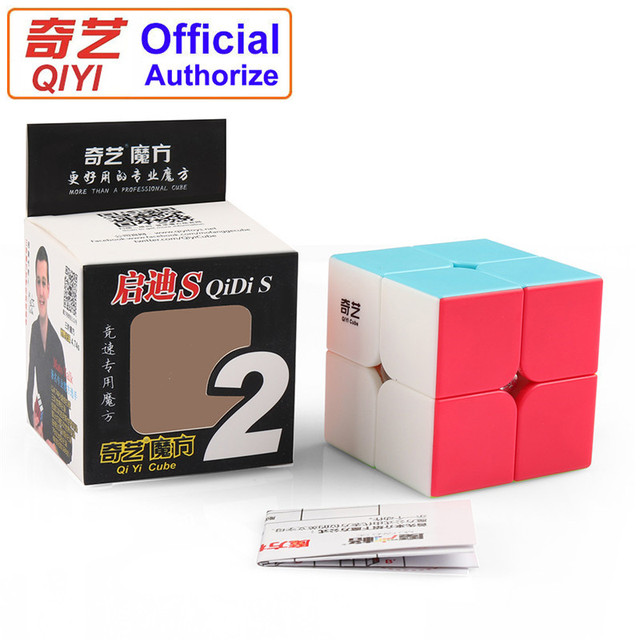 QIYI Warrant 2x2 Speed Magic Cube Stickerless 2x2x2 Cubo Magico Puzzle Educational Toys for Children Kids Gift Magic-Cube MF2SET 3