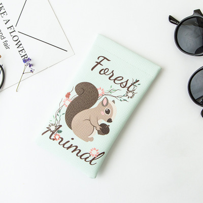 Laamei Women Bags For Glasses Cartoon Animal Printed Travel Bag Portable Storage Bag Girls Change Coin Purse Sweet Pouch Wallet
